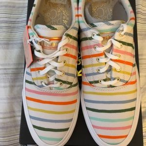 NIB Keds x Rifle Paper colorful striped sneakers